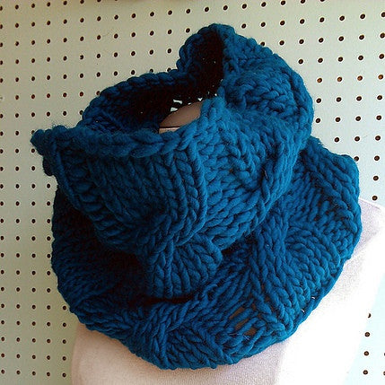 Easy Loose Cabled Cowl Pattern Free Knit O Matic