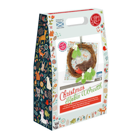 Crafty Kit Company: Wreath Needle Felting Kit