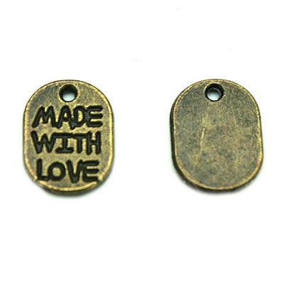 Decorative Label/Tags: Made with Love (Oval)