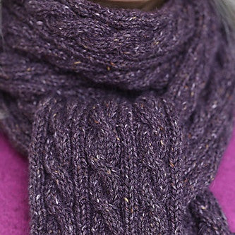 Basic Cabled Scarf Pattern Free Knit O Matic