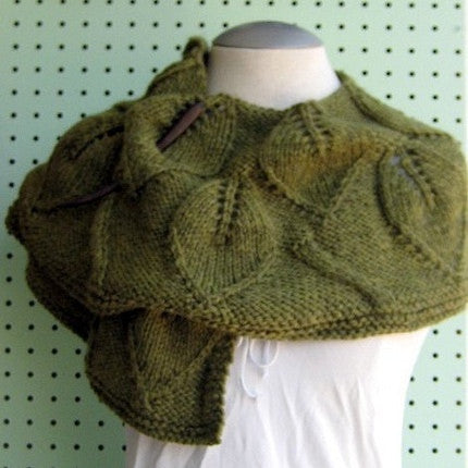 Leaf Lace Shawlette Pattern