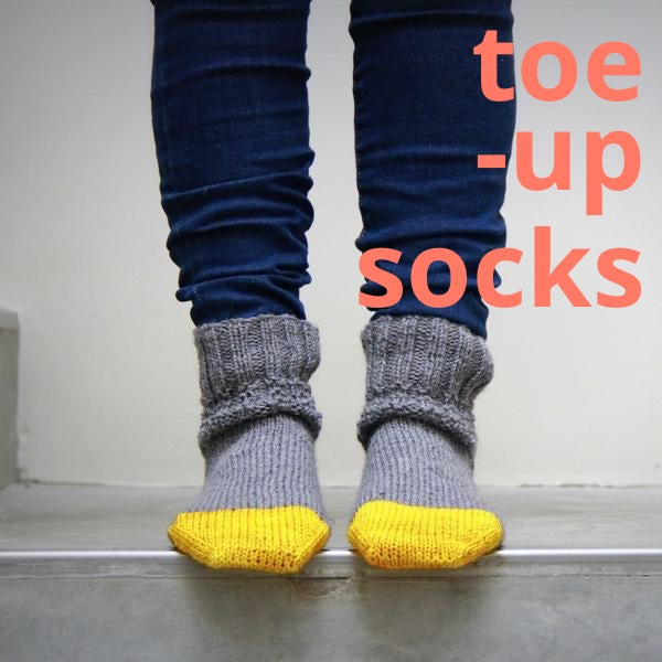 Toe-Up Socks on Two Circulars