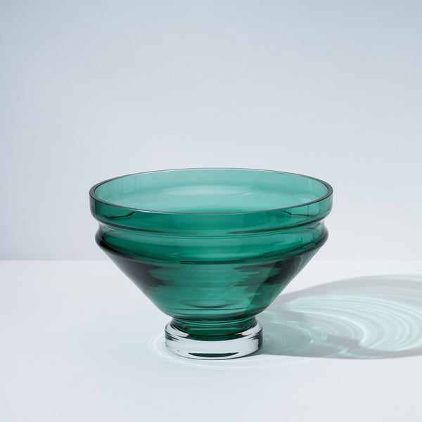 raawii Relæ - Large Glass Bowl Bowl Bristol Green