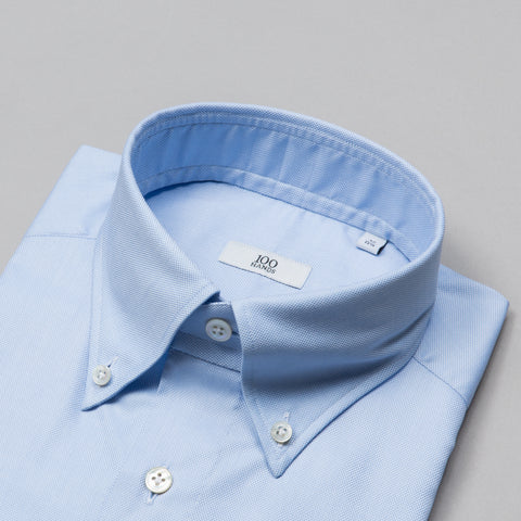 BLACK LINE OXFORD BUTTON DOWN BLUE