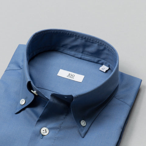 BLACK LINE OXFORD BUTTON DOWN GREY BLUE