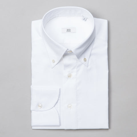 BLACK LINE OXFORD BUTTON DOWN WHITE
