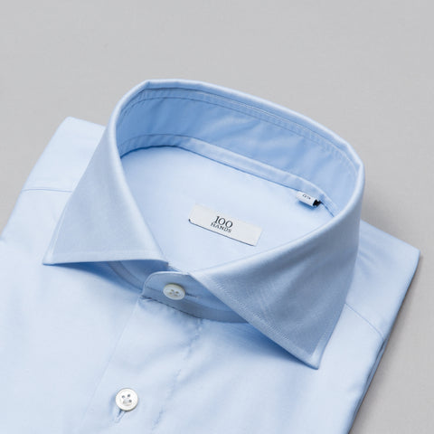 BLACK LINE TWILL SPREAD COLLAR BLUE