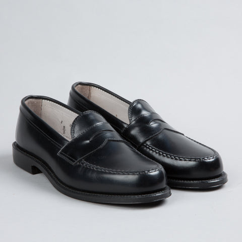 LEISURE HANDSEWN PENNY LOAFER BLACK CALFSKIN 981