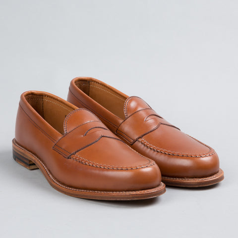 LEISURE HANDSEWN PENNY LOAFER BURNISHED TAN 983