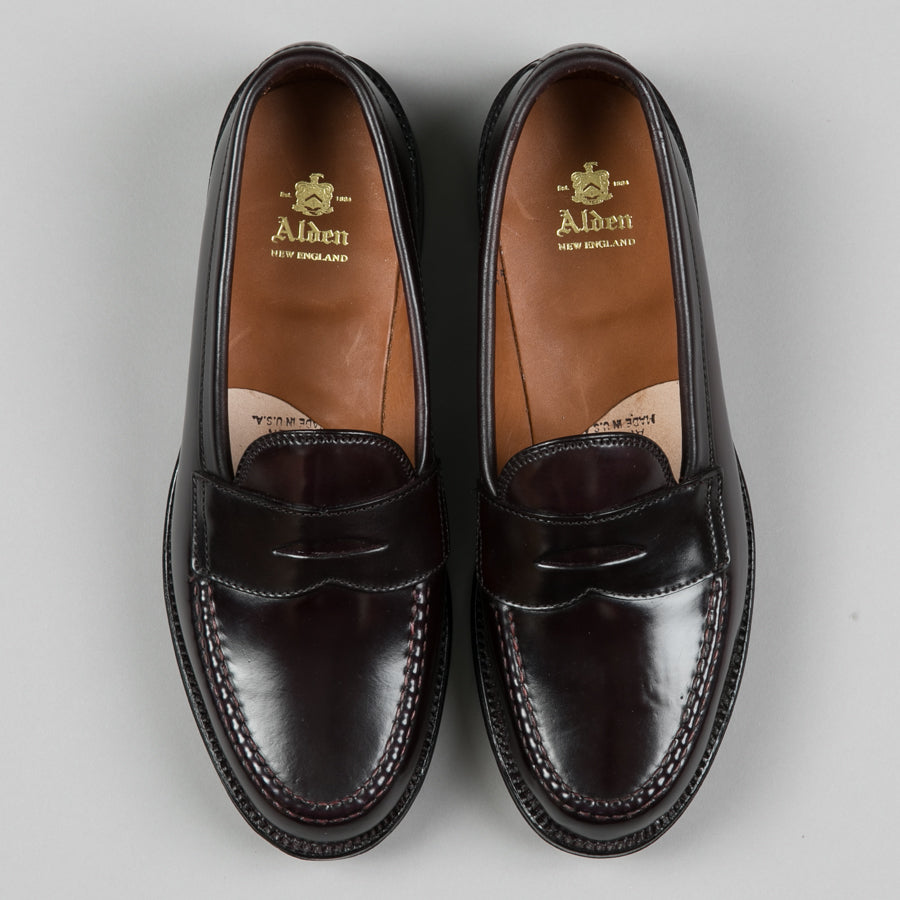 16180bed6fa ... ALDEN-LEISURE HANDSEWN PENNY LOAFER COLOR 8 SHELL CORDOVAN 986-Supply    Advise