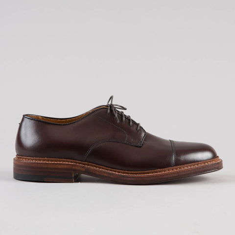 STRAIGHT TIP BLUCHER BROWN CALFSKIN D5516