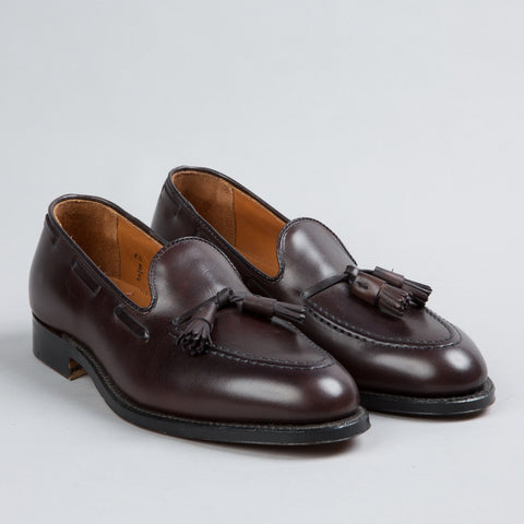TASSEL MOCCASIN DARK BROWN CALFSKIN 561