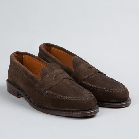 UNLINED PENNY LOAFER DARK BROWN SUEDE 6245F