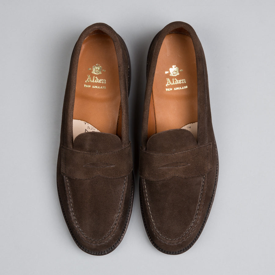 2a55898b7f4 ... ALDEN-UNLINED PENNY LOAFER DARK BROWN SUEDE 6245F-Supply   Advise