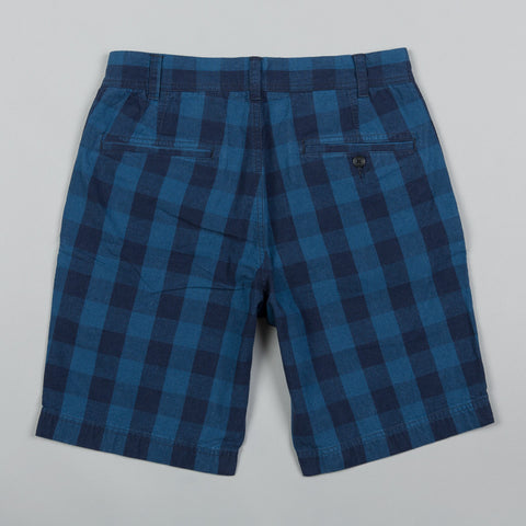 BUFFALO PLAID LINEN SHORTS
