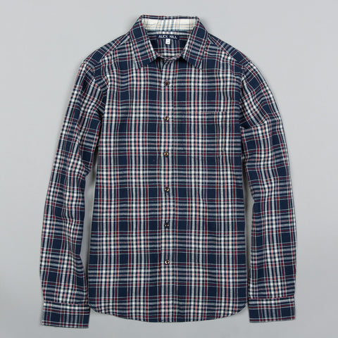 ROYAL PLAID SPORT SHIRT NAVY/RED