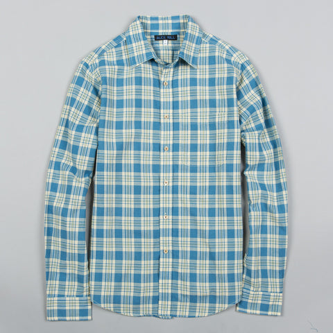 SPRING MADRAS SPORT SHIRT YELLOW/LIGHT INDIGO