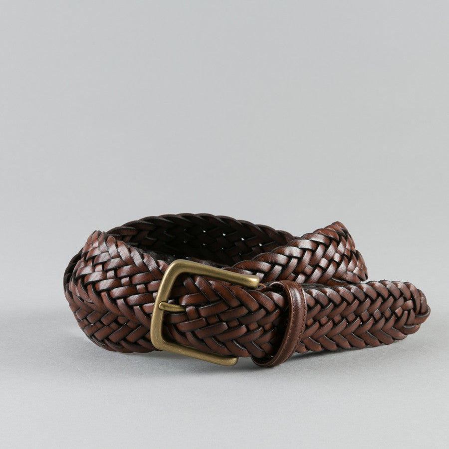 eb3c76ee5e1b ANDERSON S-BRAIDED LEATHER BELT BROWN-Supply   Advise