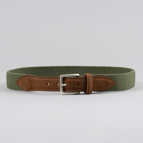STRETCH CANVAS BELT OLIVE/SNUFF
