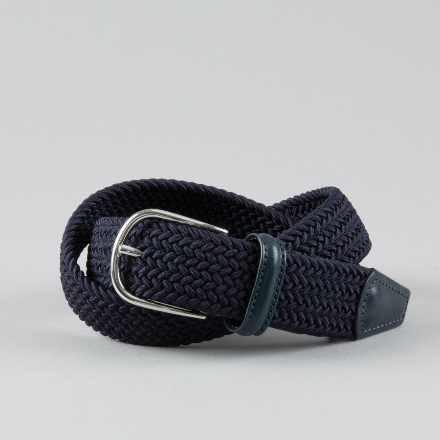 45db82b017aa ANDERSON S-STRETCH WOVEN BELT NAVY-Supply   Advise