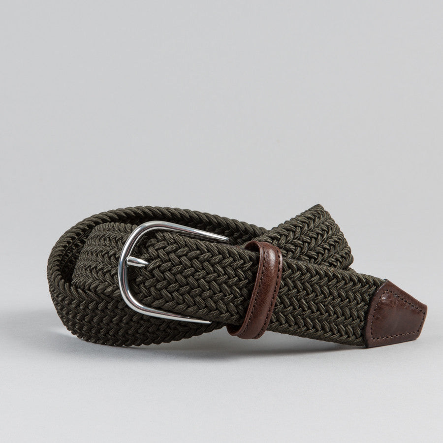 616f3e37708b ANDERSON S-STRETCH WOVEN BELT OLIVE-Supply   Advise