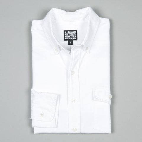 NATURAL FIT BUTTON DOWN OXFORD WHITE