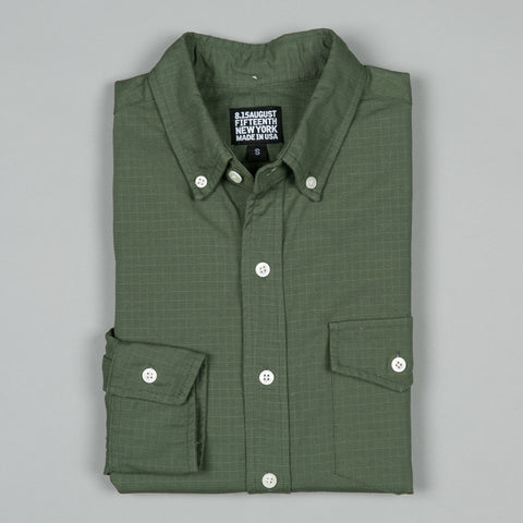 NATURAL FIT BUTTON DOWN RIPSTOP OLIVE