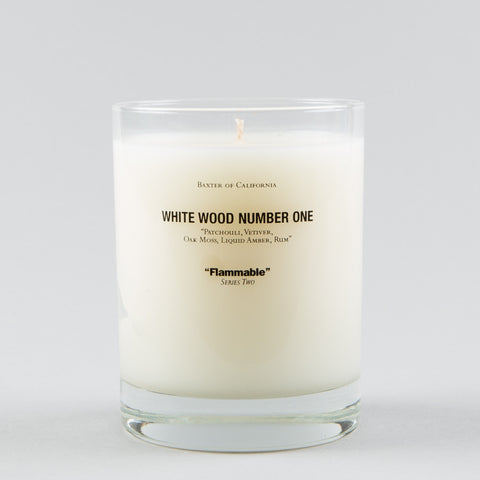 WHITE WOOD NUMBER 1 CANDLE