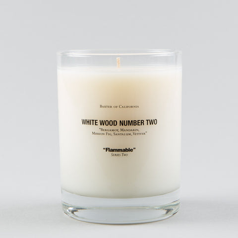 WHITE WOOD NUMBER 2 CANDLE