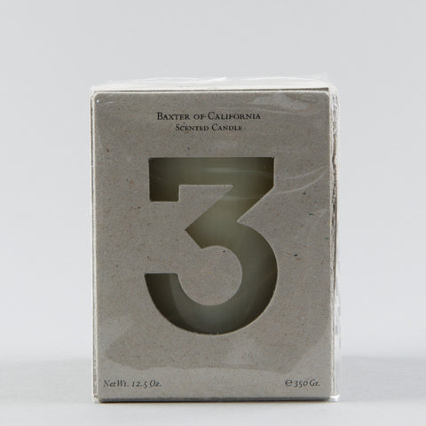 WHITE WOOD NUMBER 3 CANDLE