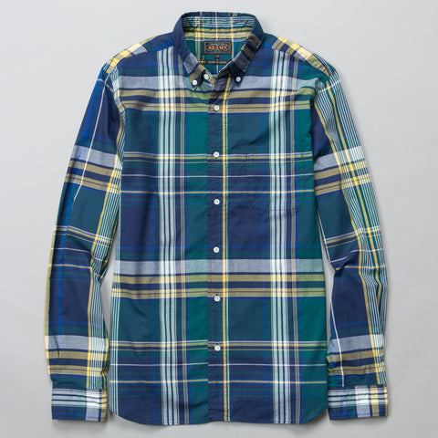 BIG CHECK BUTTON DOWN NAVY