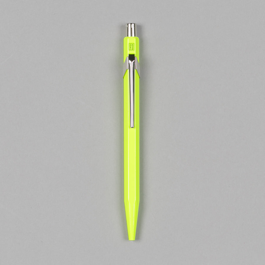CARAN D'ACHE-849 METAL BALLPOINT PEN FLUORESCENT YELLOW-Supply & Advise