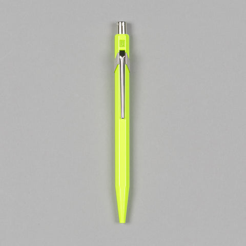 849 METAL BALLPOINT PEN FLUORESCENT YELLOW