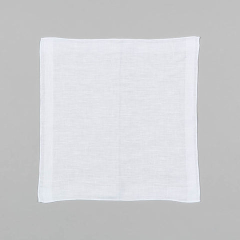 IRISH LINEN POCKET SQUARE WHITE