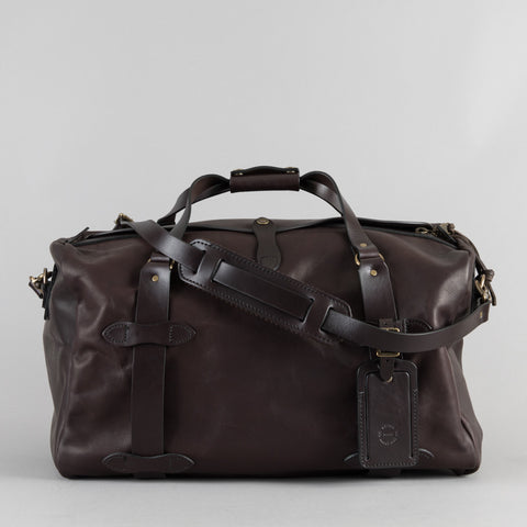 MEDIUM WEATHERPROOF LEATHER DUFFLE SIERRA BROWN