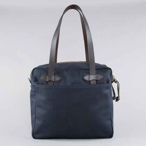 TOTE BAG WITH ZIPPER NAVY