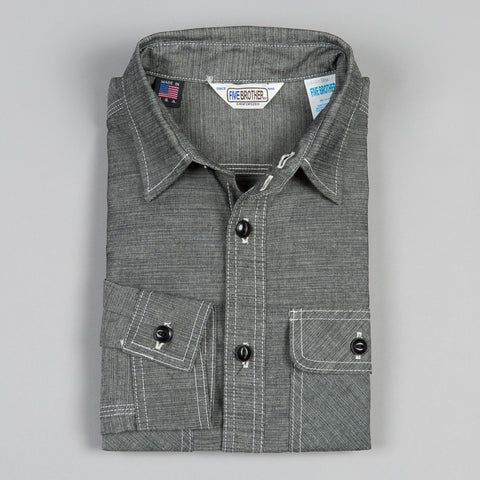 HEAVY CHAMBRAY WORK SHIRT BLACK
