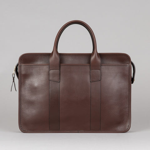 BOUND EDGE ZIP-TOP BRIEFCASE CHOCOLATE