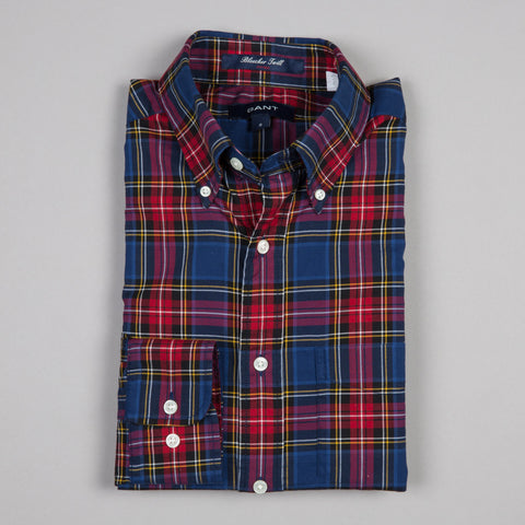 BLEECKER TWILL CHECK BUTTON DOWN PERSIAN BLUE