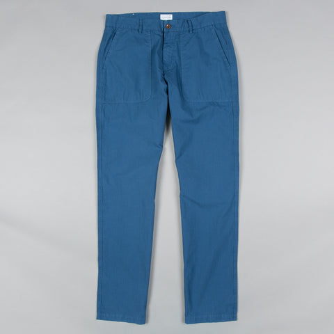 LOOSE COTTON RIPSTOP PANTS DARK SEA