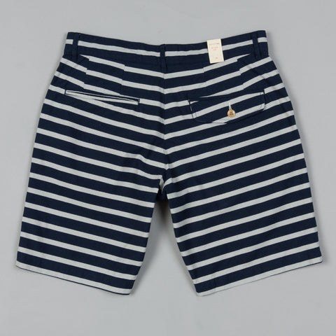 STRIPED SHORTS NAVY