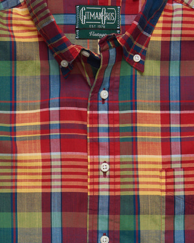 ARCHIVE MADRAS BUTTON DOWN RED
