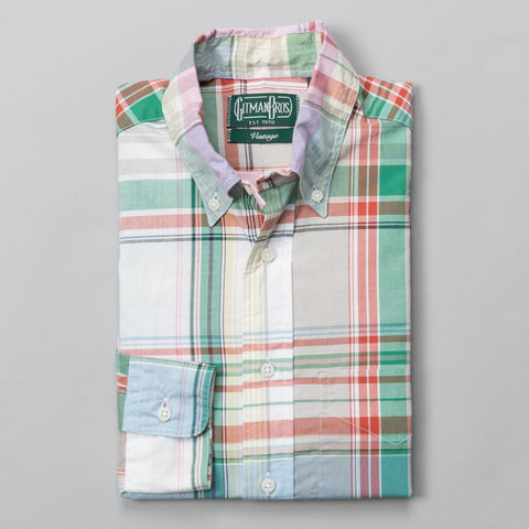 BIG DUSTY PLAID BUTTON DOWN