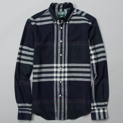 BIG CHECK FLANNEL BUTTON DOWN NAVY