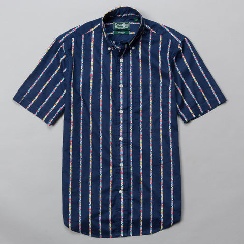 MARITIME MESSAGING SHORT SLEEVE BUTTON DOWN NAVY