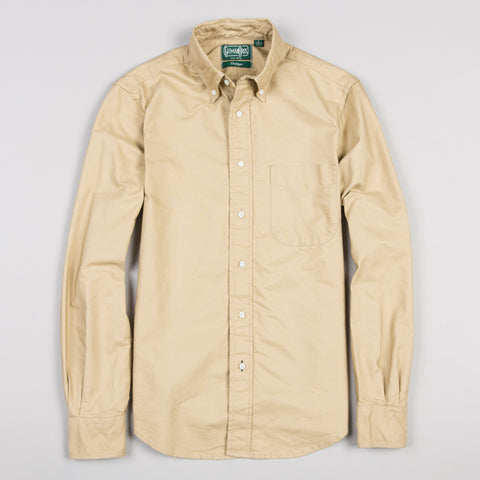 OVERDYE OXFORD BUTTON DOWN KHAKI