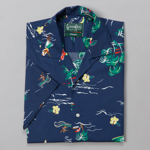 SURF & TURF CAMP SHIRT NAVY