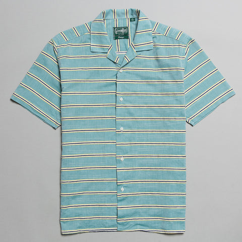 TERRY CLOTH BORDER BARRE CAMP SHIRT BLUE
