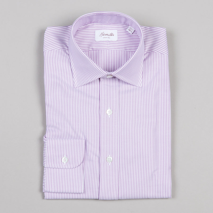 Hamilton dress shirt purple stripe oxford supply advise for Purple striped dress shirt