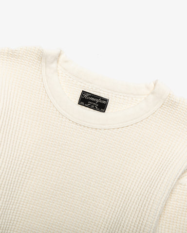 CREW THERMAL BULKY WAFFLE ANTIQUE WHITE